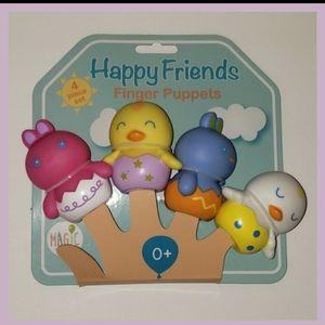 NWT Happy Friends Kids (4) Piece Finger Puppet Set